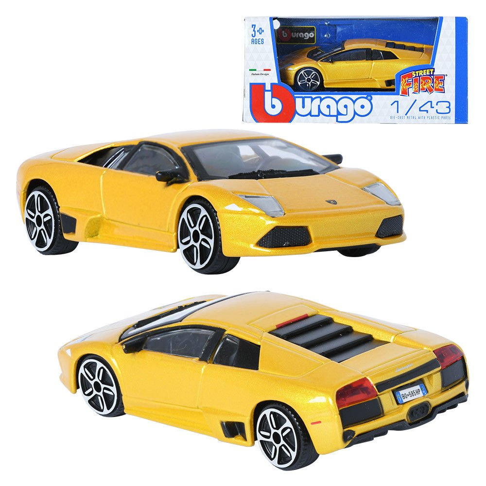 Burago 1 43 Lamborghini Murcielago Lp 640 Yellow Display Mini Car