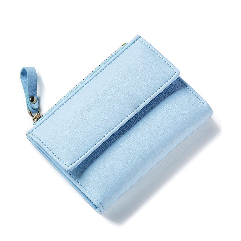 Amazon.com: Rising ON Women Zipper Wallet Female Fashion Lady Wallet Short Solid Color Change Purse Hot Female Clutch Carteras Female BlackOne Size: Shoes
