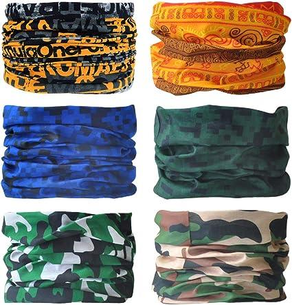 Seamless Face Mask Bandanas for Dust Sports Wiwsi 6PCS Head Wrap Mask Sweatband 31# Group Outdoors Balaclava
