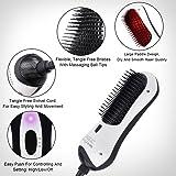 Mini Hair Straightener Brush Massage Straight Hair