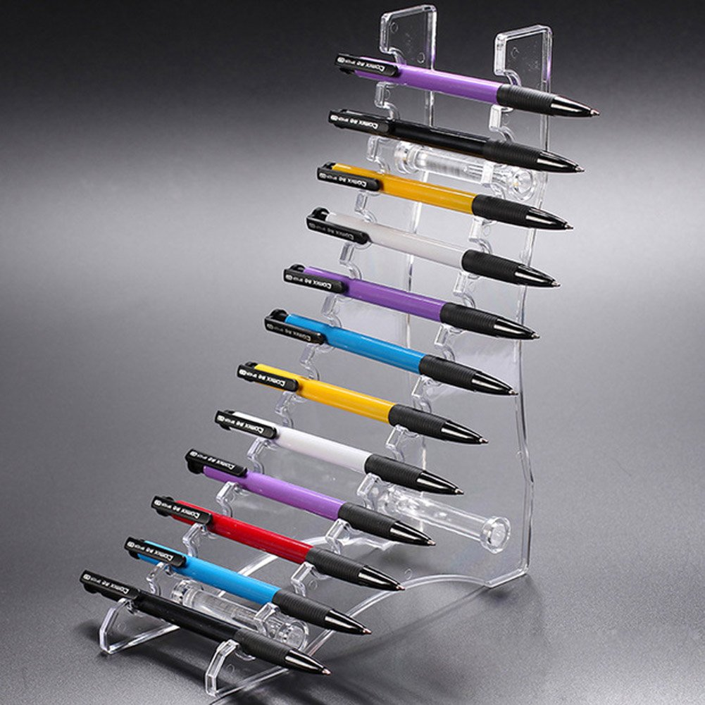 Amazon.com: Clear Acrylic Pen Stand Display Pencil Holder Rack ...