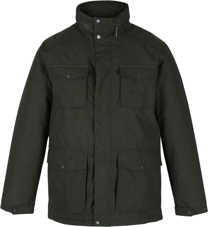 Regatta Mens Eneko Waterproof Breathable Taped Seams Insulated Taffeta Lining Equestrian Friendly Jacket With Back Vents