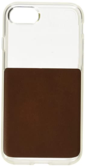 on sale fee01 4c79b Amazon.com: Nomad iPhone 7/8 Clear Case w/Rustic Brown Leather ...