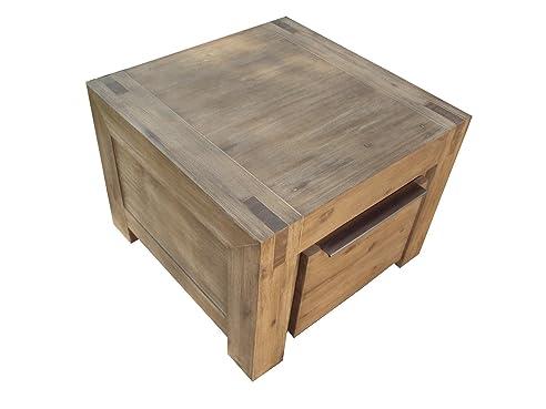 Massivholz Ecktisch 60x60 Cm Couchtisch HAMBURG Akazie Massiv