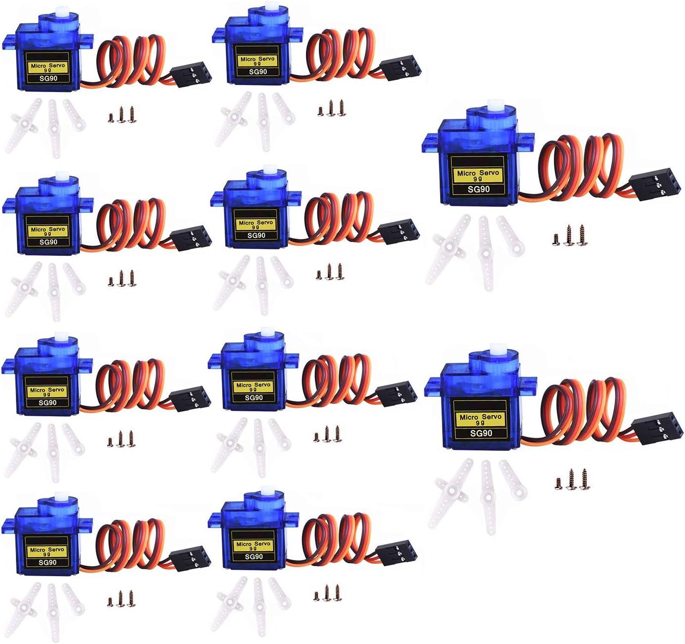 9G SG90 Micro Digital Servo Motor For RC Robot Helicopter Plane Car Boat Arduino