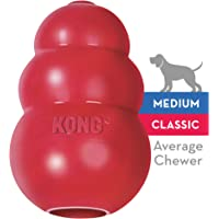 KONG Classic Dog Toy, Durable Natural Rubber- Fun to Chew, Chase & Fetch- For Medium Dogs