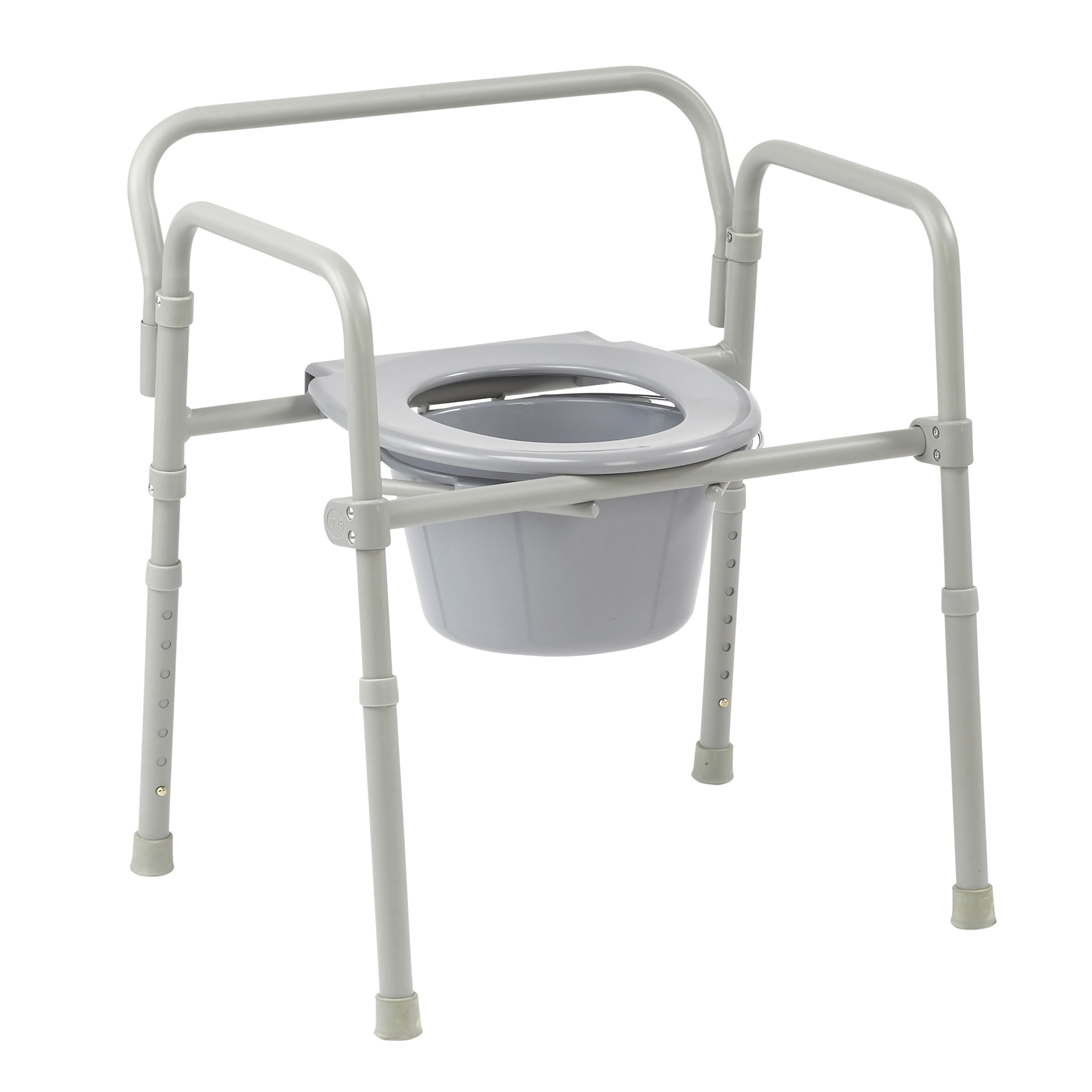 Drive Medical 3-in-1 Competitive Edge Folding Commode, 4 Count
