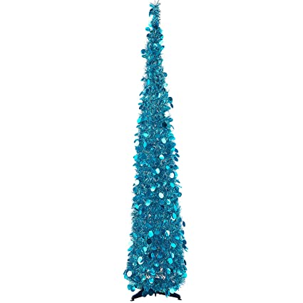 MACTING 5ft Pop up Christmas Tinsel Tree with Stand Easy-Assembly Tinsel  Coastal Glittery Christmas - Amazon.com: MACTING 5ft Pop Up Christmas Tinsel Tree With Stand Easy