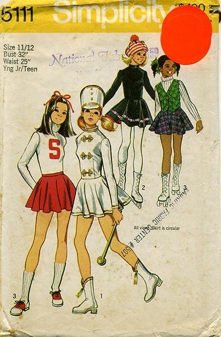 Amazon.com: 1970s Simplicity Pattern 5111 ~ las niñas y ...