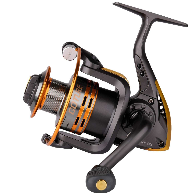Goture Spinning Fishing Reel Metal Spool 6bb for Freshwater Saltwater 500 1000 2000 3000 4000 5000 6000 Series (2000 Series)
