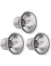 POPETPOP 3pcs 75W uvb + uva3.0 Lampe à Reptile Ampoule Tortue Basking Ampoules UV Lampe chauffante Ampoule Reptile Soleil