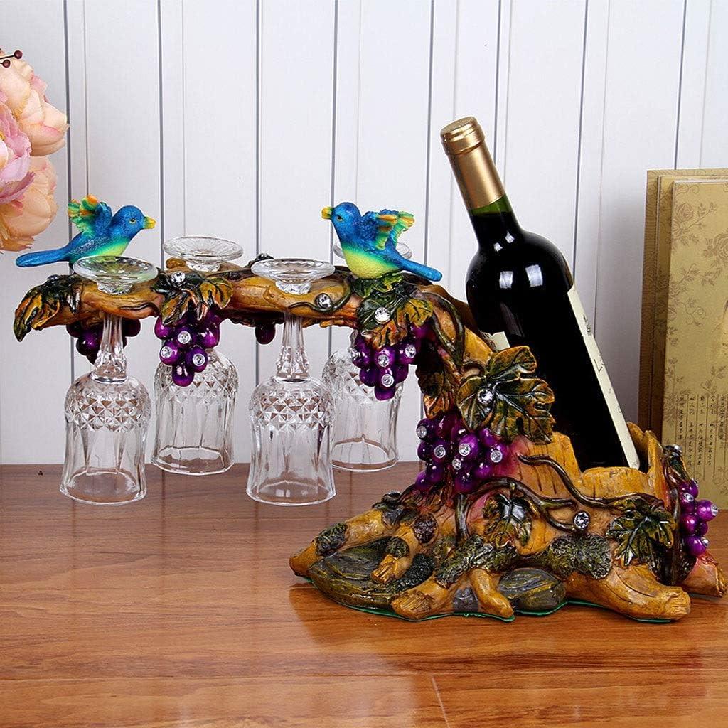 Mesa comedor cristal Decoración de estante de vino de pavo real Sala de estar Decoración de gabinete de vino Estante de vino Manualidades creativas Inauguración de la boda Regalo práctico de boda