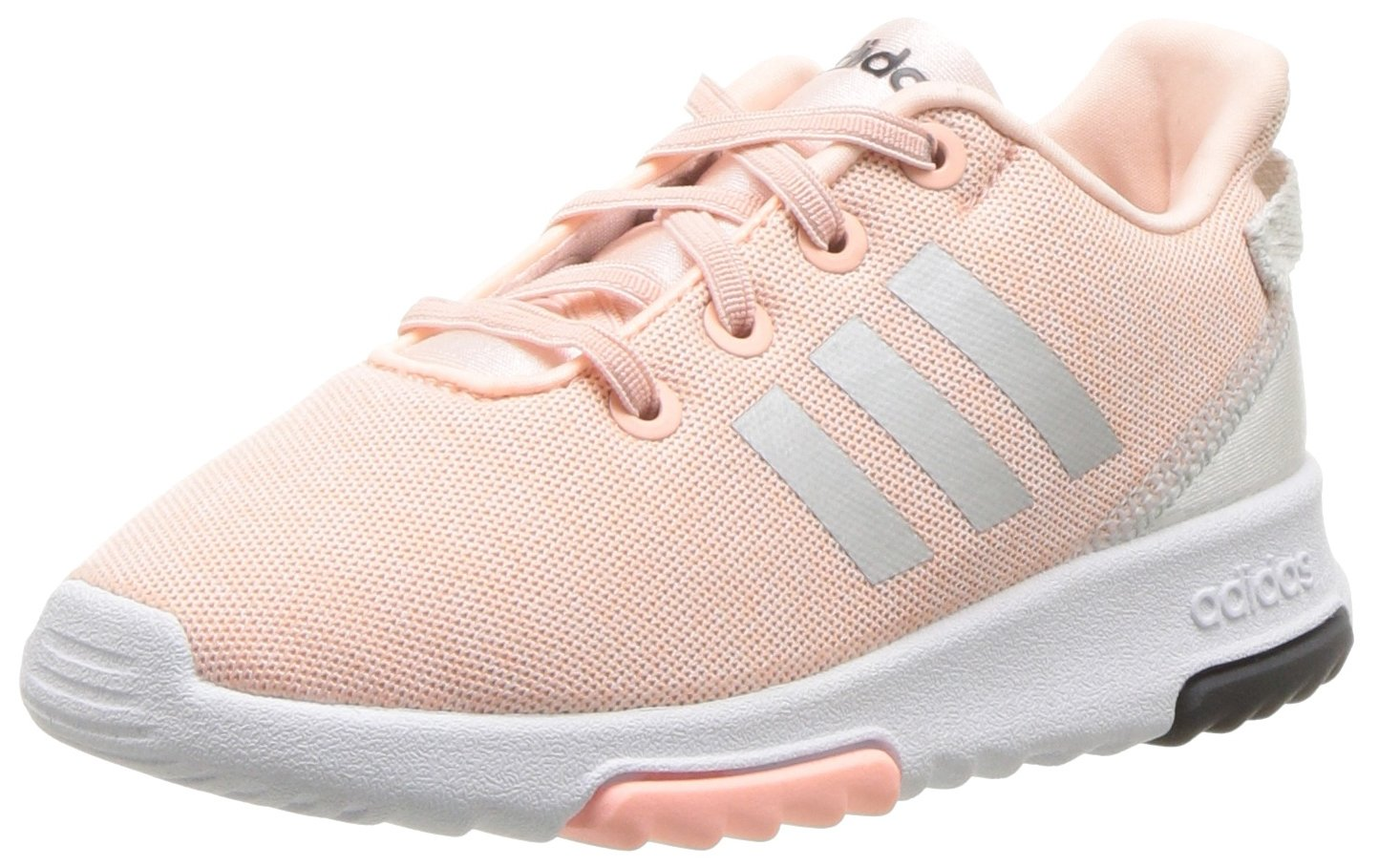 adidas Kids CF Racer TR Running Shoe, Haze Coral/Metallic Silver/White, 4K M US Toddler