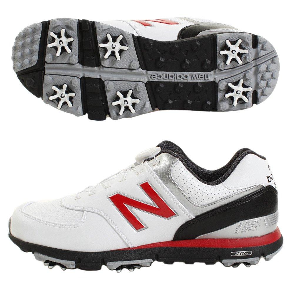 ニューバランス New Balance シューズ ゴルフ シューズ B07BBMX8QZ 29.5 cm ホワイト/レッド