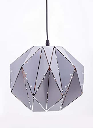 grey suspended lamp
