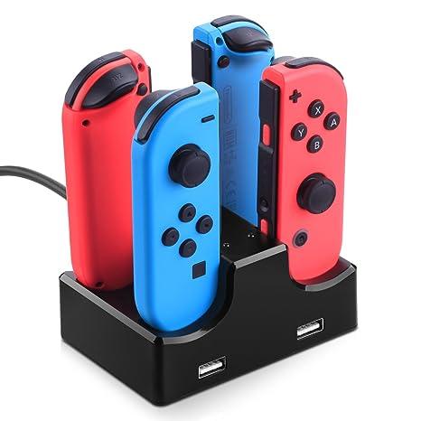 Nintendo Switch Joy Con Cargador Stand, Myriann 4 en 1 ...