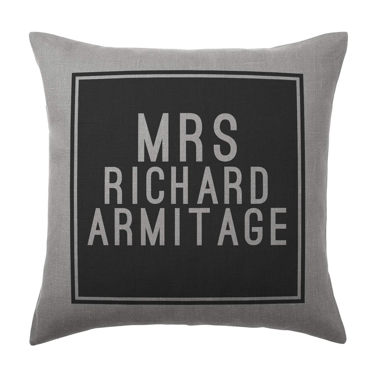 Grey 40x40cm Stocking Fillers Richard Armitage Cushion Pillow Cover and filling pad Available with or without filling pad 100/% Cotton