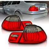 AmeriLite 2 Door L.E.D Taillights Red/Smoke 4Pcs for BMW 3 Series E46 - Passenger and Driver Side