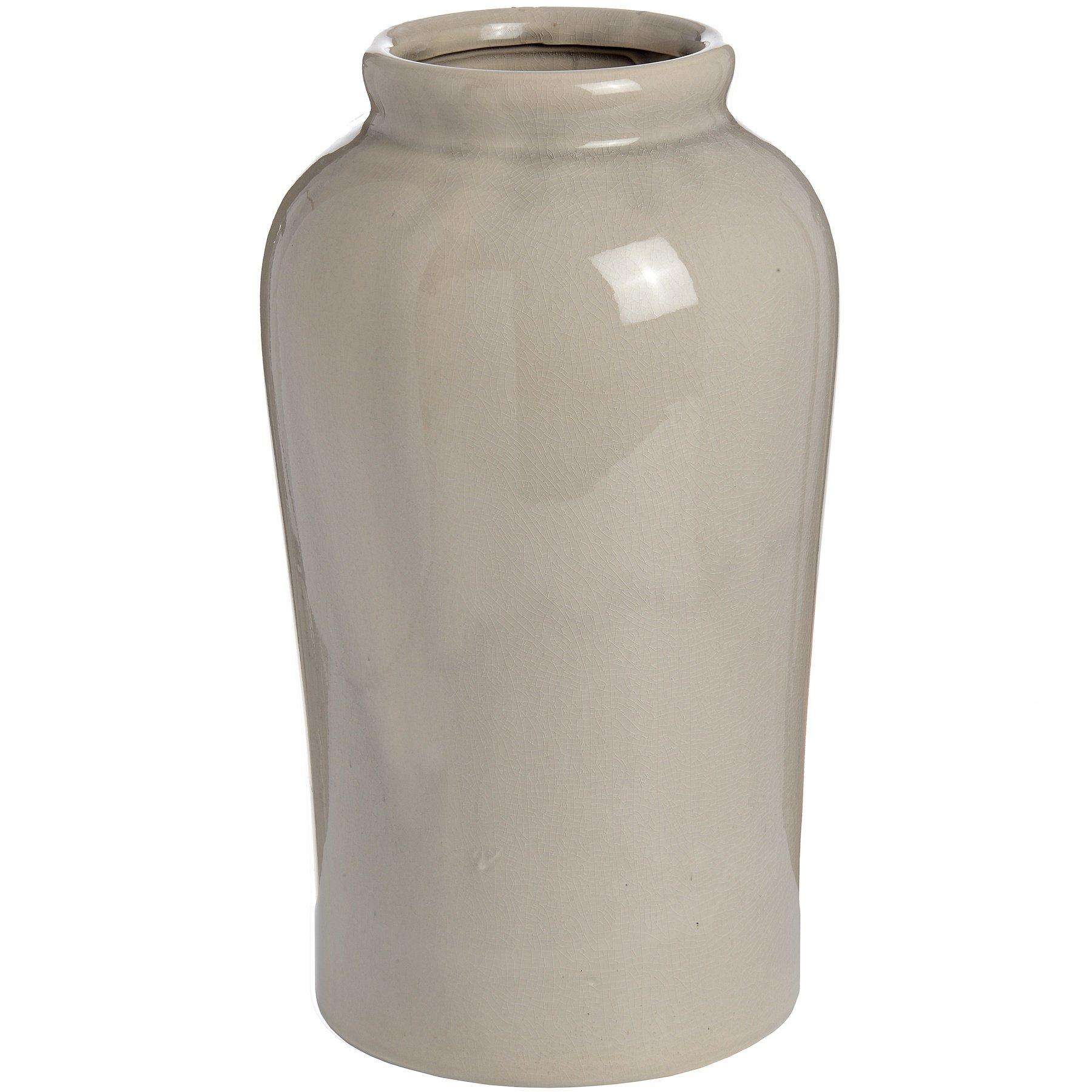 Hill Interiors Ceramic Lucca Vase (Medium (H8.8 x W8.8 x D15.1in)) (Gray)