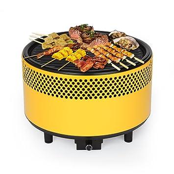 Kbabe - Barbacoa de carbón portátil, color amarillo