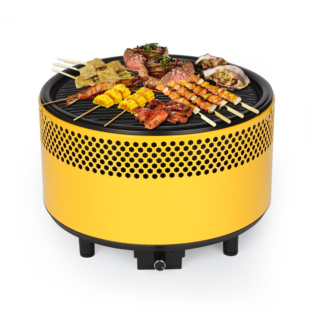 Kbabe Portable Charcoal BBQ Smokeless Grill - Ultimate Electric Outdoor Barbecue Grill, Easy-To-Use, Carry Compact Barbecue Grill For Backyard, Camping, Picnics, Built-in Fan, Powder-Coated Steel