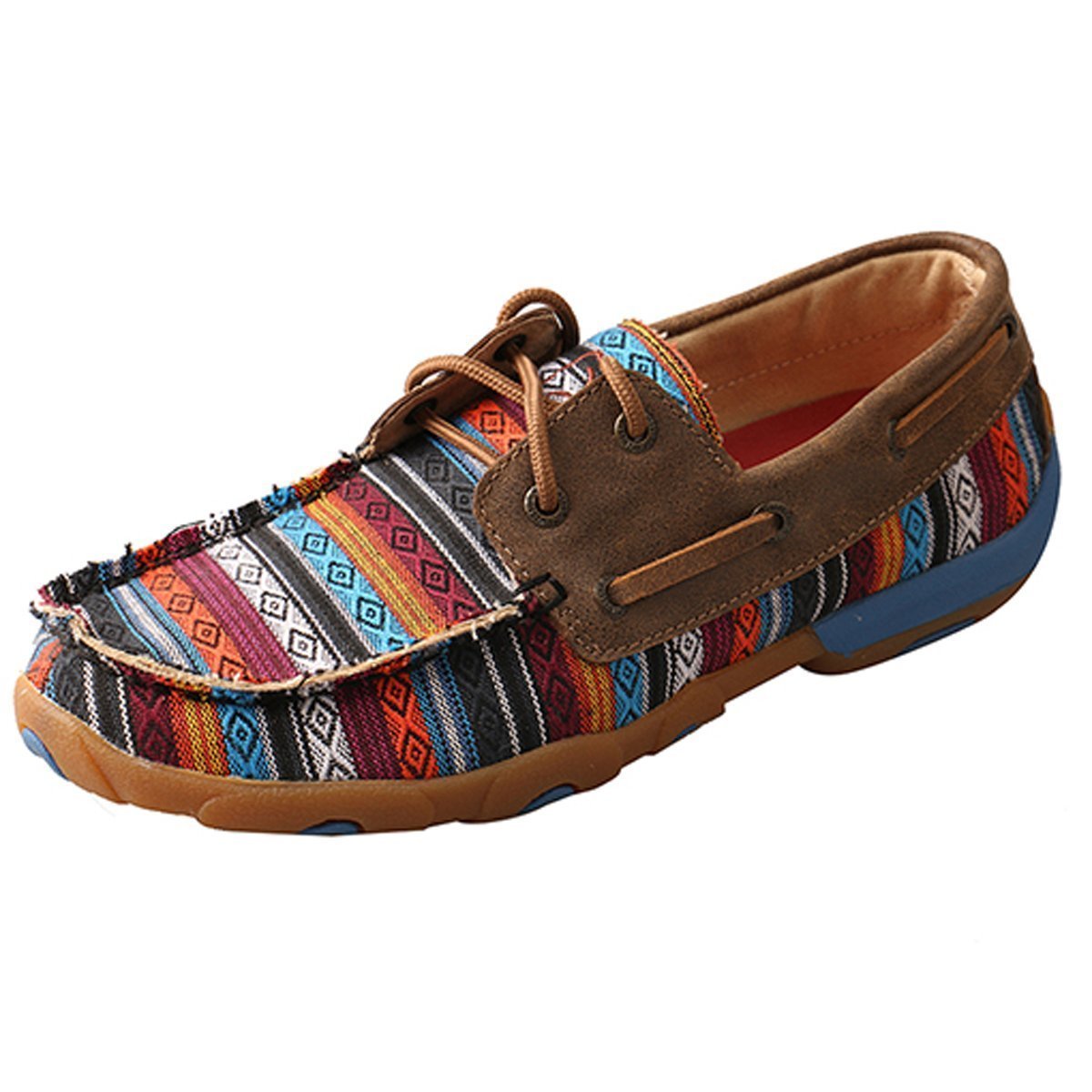 Twisted X Women's Driving Moccasin in Serape Canvas B074BQMVZP 11 B(M) US|Serape/Bomber