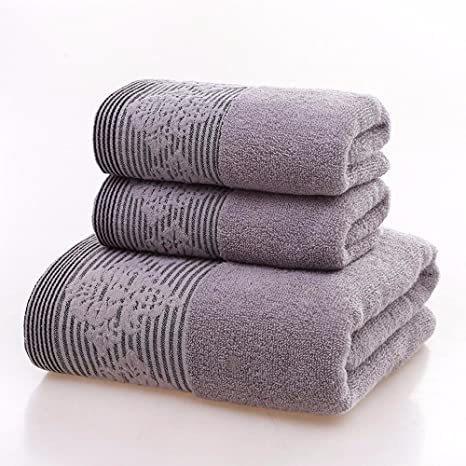 LOF-fei Juego de toallas Premium de 2 piezas:Súper grande de algodón Baño