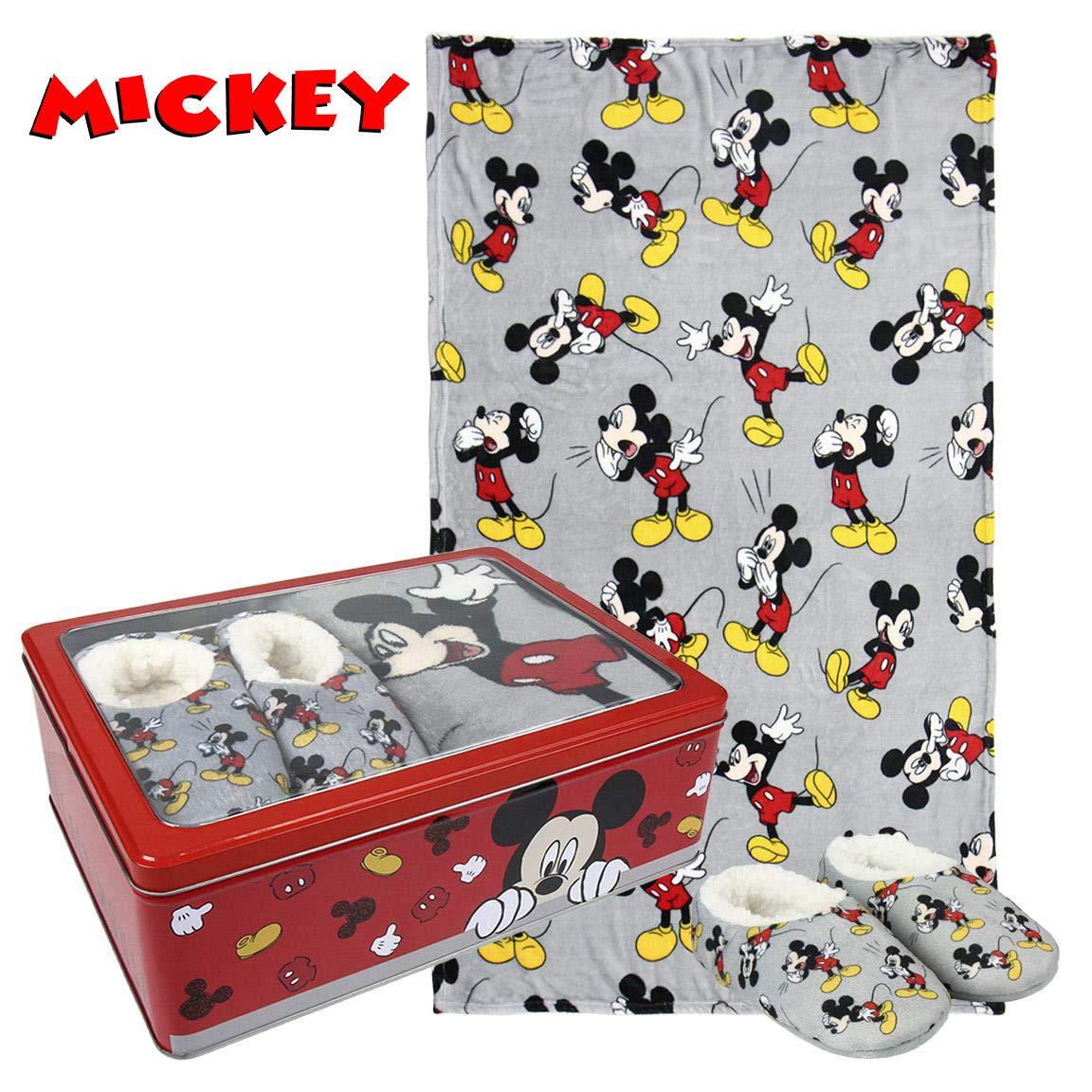 TU Cerd/á 2200-3668 Mickey Caja met/álica Manta+Zapatilla Varios