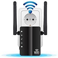 Wlan Repeater,Dootoper N300 Wlan Range Extender,Wlan Verstärker,Wlan Router Wireless Access Point/( 300 Mbit/s, 2 LAN-Ports, WPS, kompatibel mit allen WLAN Geräten)-Kompatibel mit Alexa, erweitert WLAN auf Smart Home & Alexa Geräte