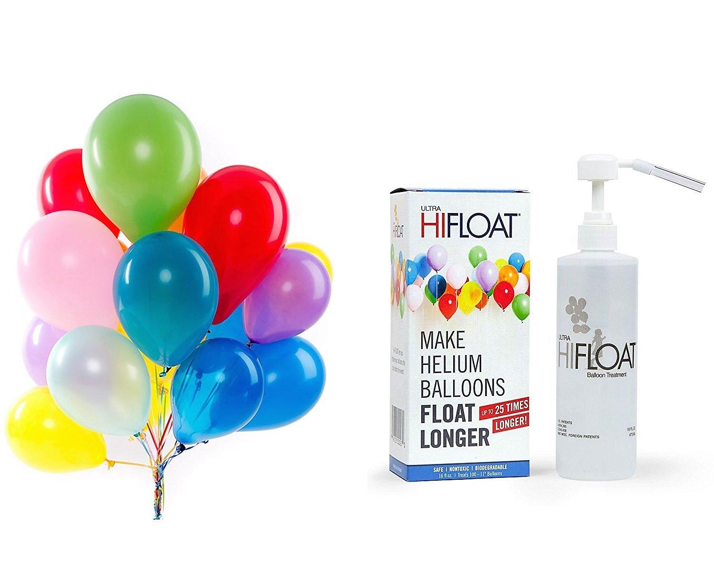 hi-float Plus 144個パーティーバルーン(アソートカラー、12インチ) Great for HeliumヘリウムバルーンTanks – Make Float Longer   B077J27YN1