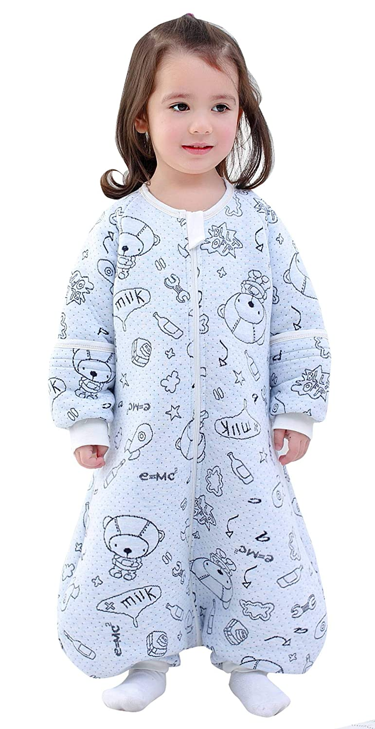Happy Cherry Cotton-Enlarged Jacquard Baby Leg Warmer Sleeping Bag-Grey XL Code Length 90CM