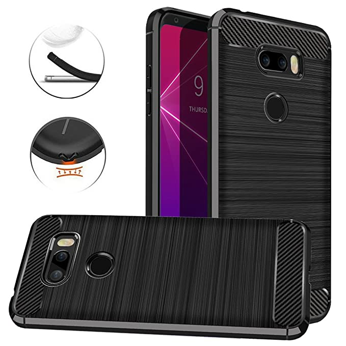 Amazon com: LG V35 ThinQ Case, Dretal Carbon Fiber Shock