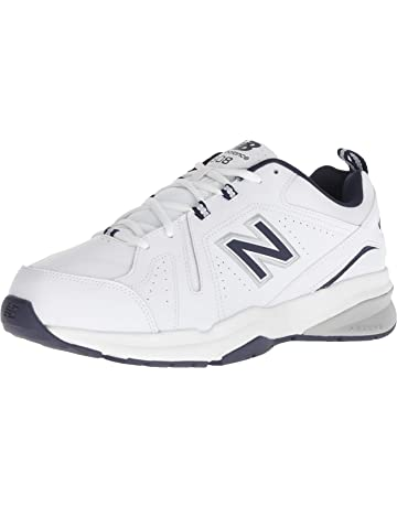 90311f9d5f62 New Balance Men s 608v5 Casual Comfort Cross Trainer White Navy 10.5 2E US