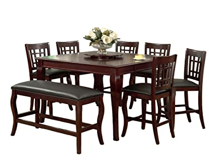 Genial Milton Greens Stars 8818CH Burgos Counter Height Table With Lazy Susan, 54  By 54 By