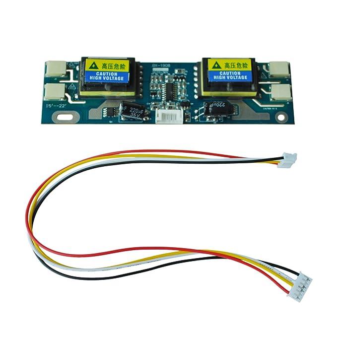SODIAL(R) Universal CCFL Inverter LCD monitor portatil de 4 10-30 Lampara para 15-24