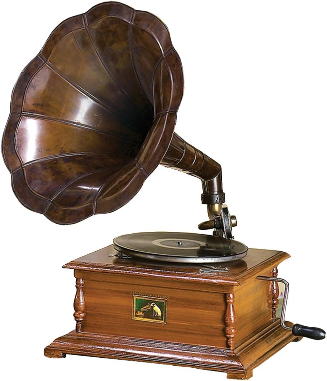 Réplica RCA Victor gramófono Tocadiscos con cuadrado y latón ...