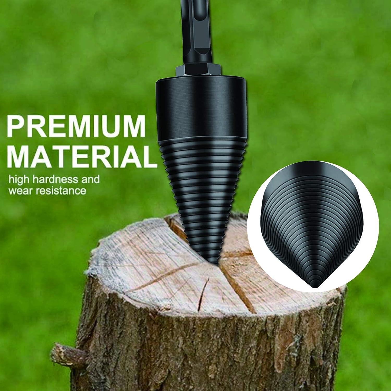 32mm Removable Log Splitters Drill Bit Firewood Drill Bit Wood Splitter Square Round Stick-hex