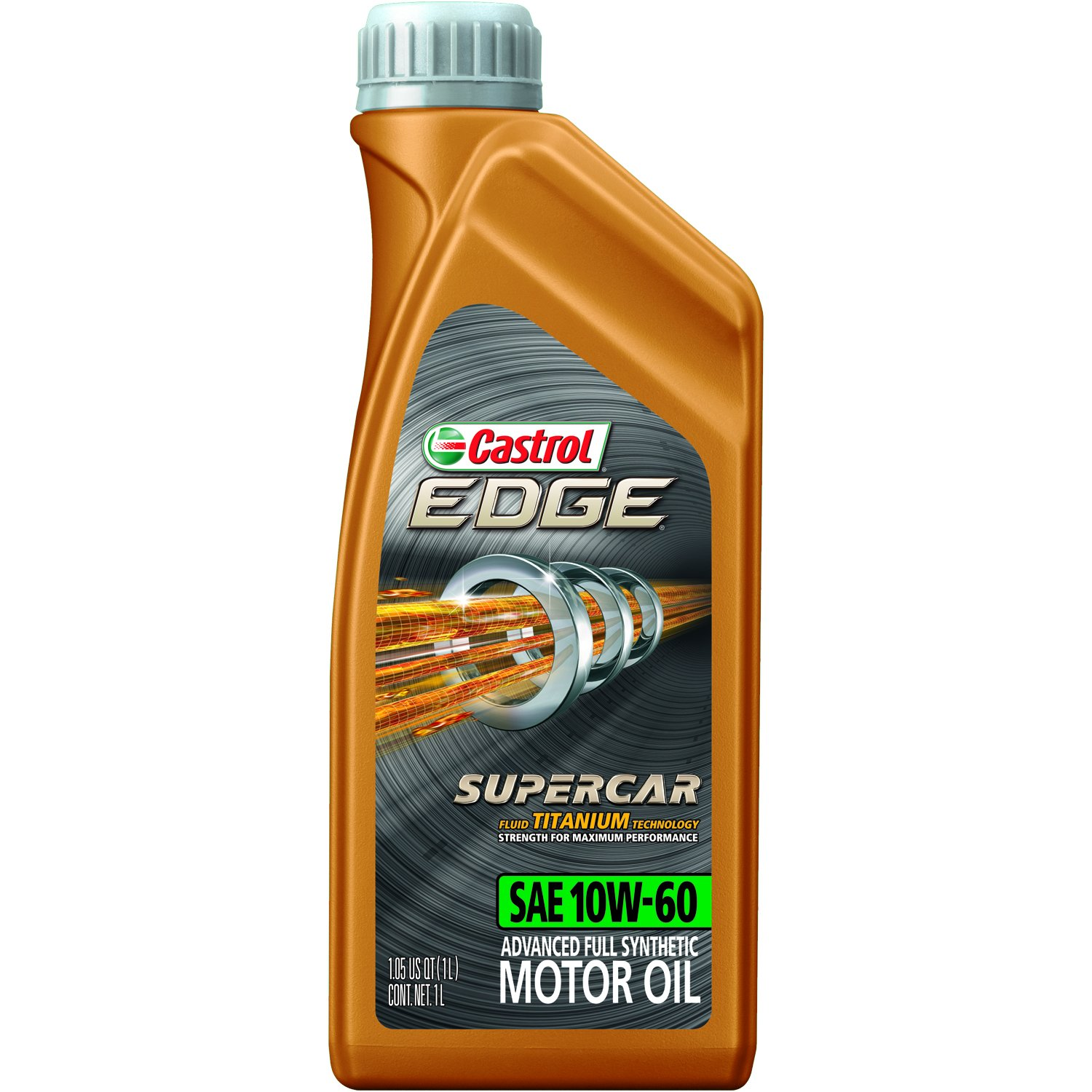Castrol 12064 EDGE SUPERCAR 10W-60 Advanced Full Synthetic Motor Oil, 1 L, 12 pack by Castrol
