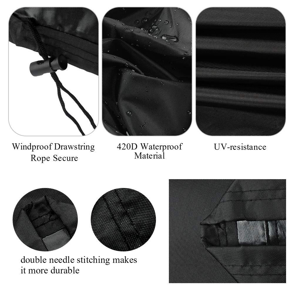 Osarke Copritavolo da Giardino Telo Copertura per Giardino Mobili Tabella Impermeabile Nero 170 x 94 x 70cm