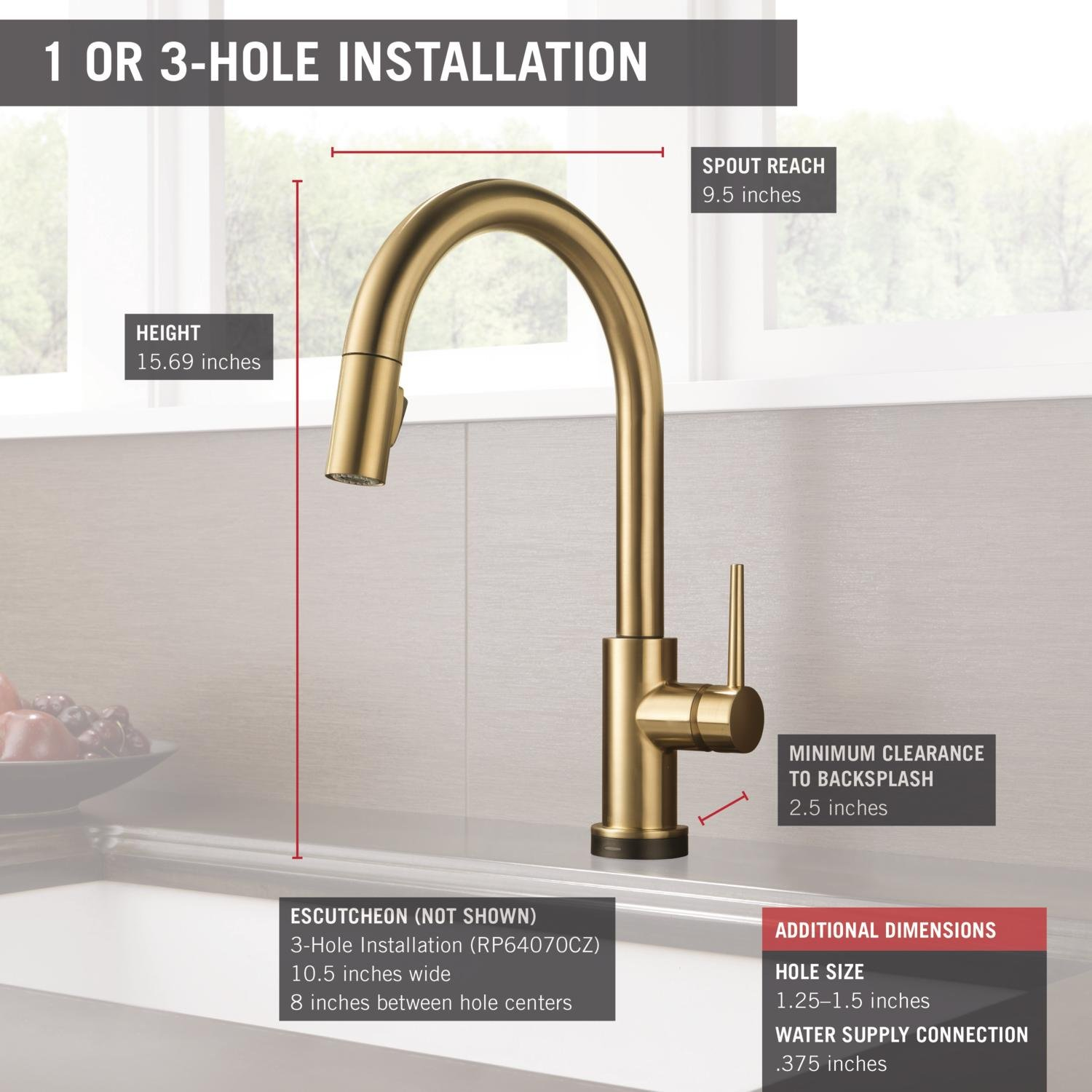 elegant for double blog delta reviews champagne kitchen awesome kitchens trinsic faucet sinks faucets touch of bronze corner