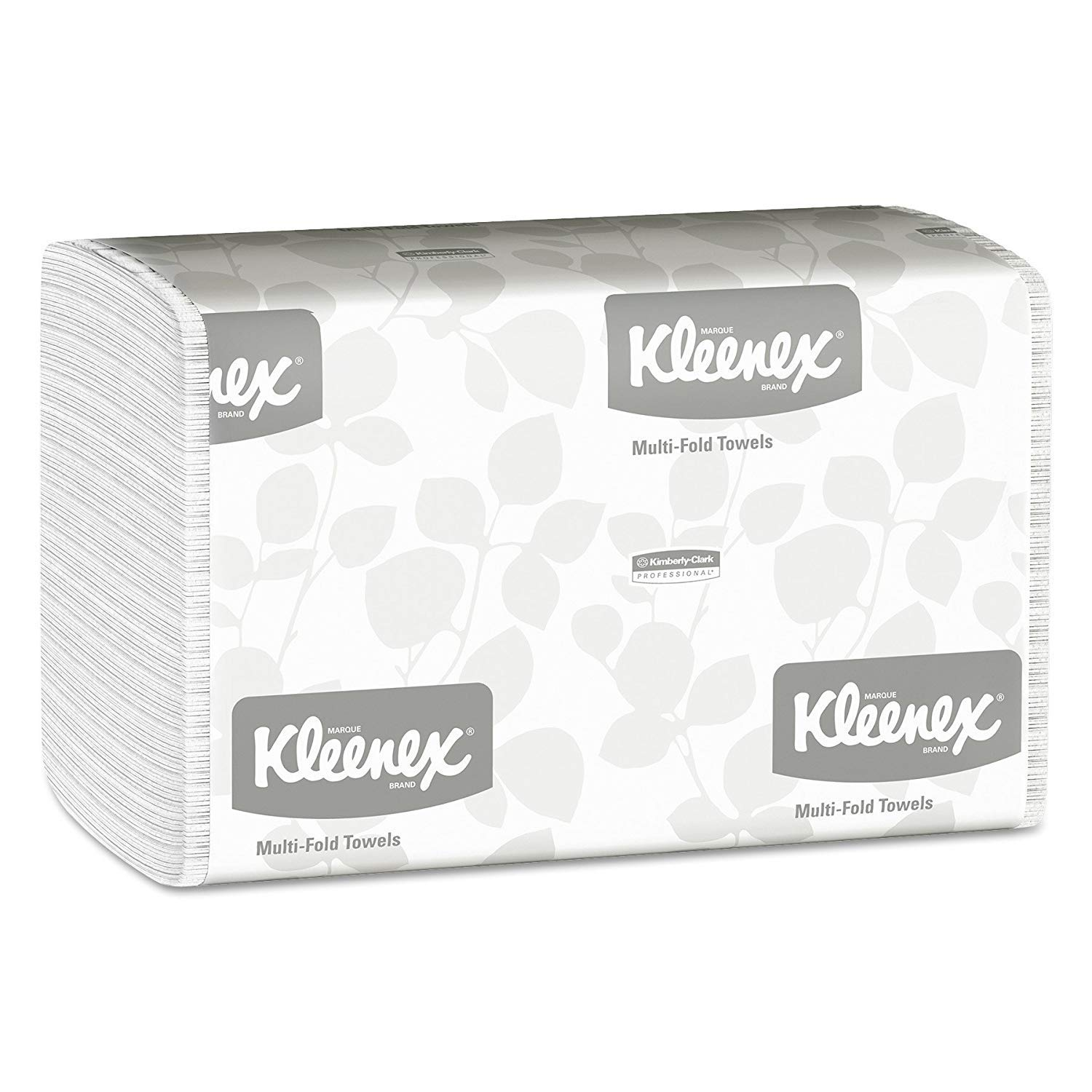 Kimberly-Clark Professional Kleenex Multifold Paper Towels (01890), White, 16 Packs/Case, 150 Tri Fold Paper Towels/Pack, 2,400 Towels/Case (2 Cases of 16 Packs)