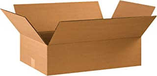"""product image for Partners Brand P22146 Flat Corrugated Boxes, 22""""L x 14""""W x 6""""H, Kraft (Pack of 20)"""