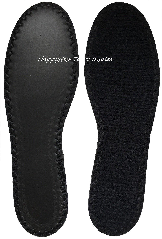 Hombre 41 EU Happystep 2 pares Plantillas de zapato de tela de rizo de algod/ón 2 pares blanco