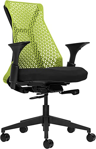 Bowery Fully Adjustable Management Office Chair Green/Black