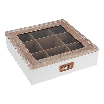Té Caja para bolsitas Madera Home (9 compartimentos)