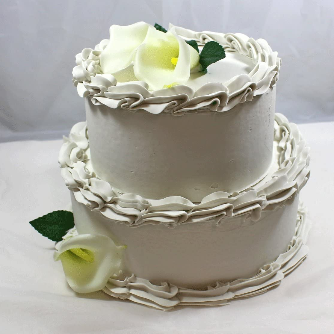 Amazon Com Just Dough It Fake 2 Tier Wedding Cake Home Kitchen