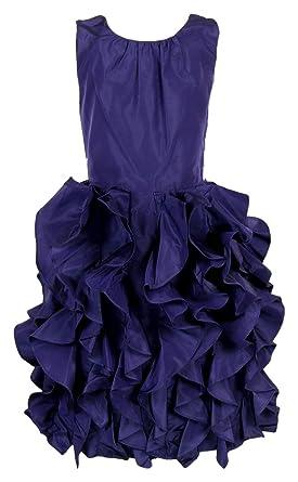 6756ab374 J Crew Crewcuts Silk Taffeta Lyla Dress Sz 12 Style# 43902 New Dark Pacific