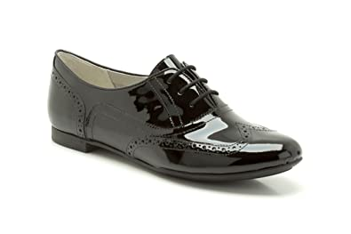 d5abdfe5def3d Image Unavailable. Image not available for. Colour: Clarks Womens Smart Clarks  Carousel Trick Leather Shoes In Black Patent ...