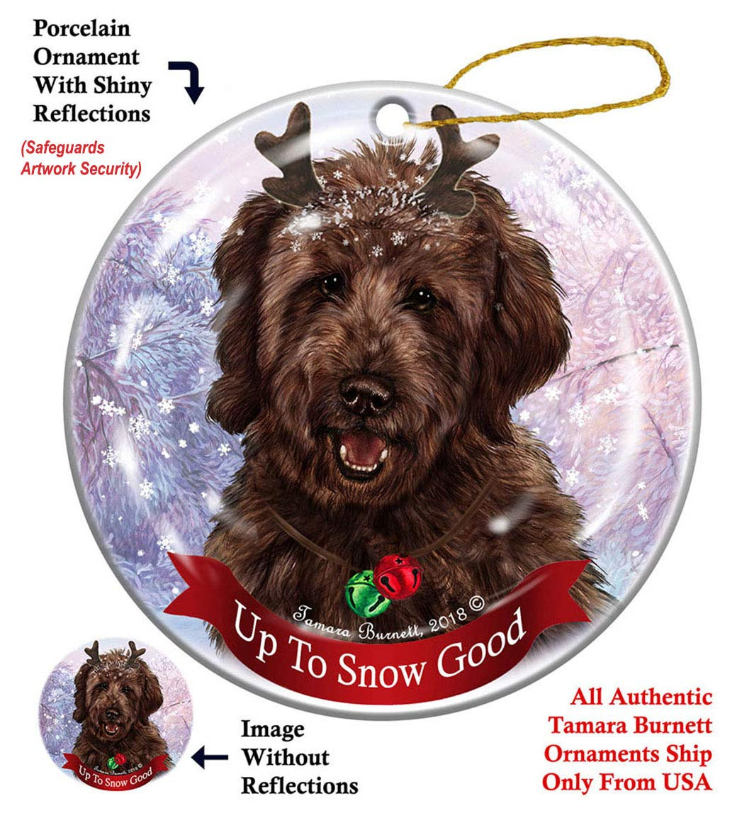 Holiday-Pet-Gifts-Goldendoodle-Chocolate-Dog-Porcelain-Christmas-Ornament
