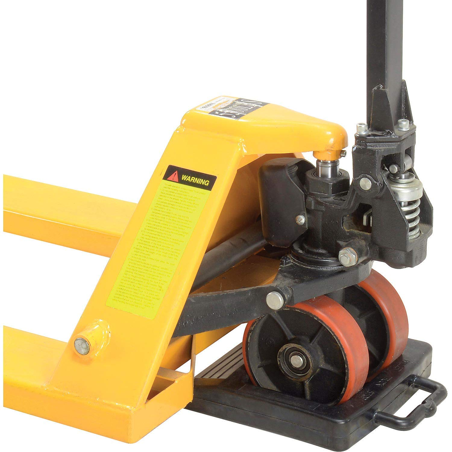 Pallet Jack Truck, 5500 Lb. Capacity, 21 x 48 & Pallet Chock Combo by Global Industrial (Image #3)